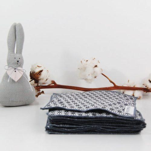 Lingettes bébé lavables – Classique