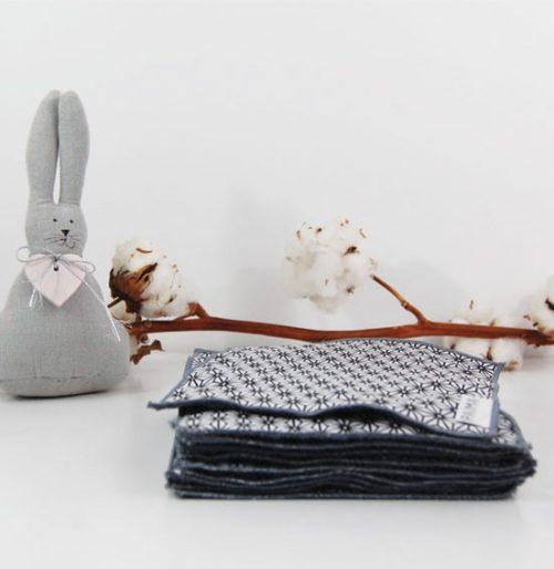 Lingettes bébé lavables x10