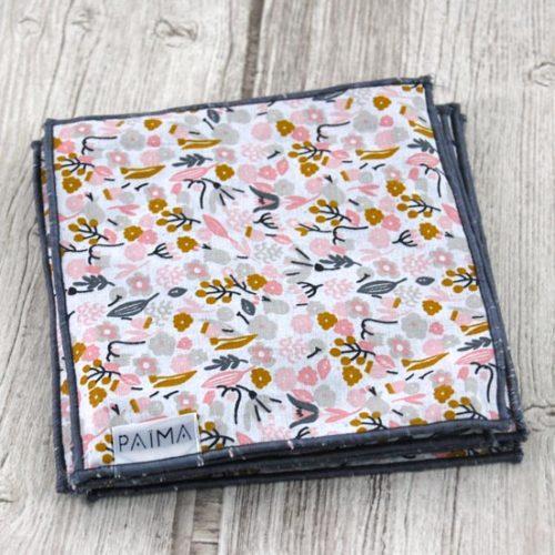 Lingettes bébé lavables – Flowers