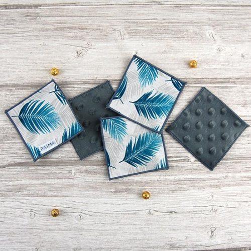 Lingettes démaquillantes lavables – Azur