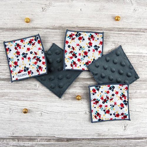 Lingettes démaquillantes lavables – Flowers